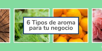 6 tipos de aroma para tu negocio